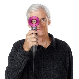 Sir James Dyson with the company's new hairdryer
