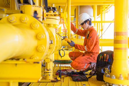 shut down valve at offshore oil and gas remote platform