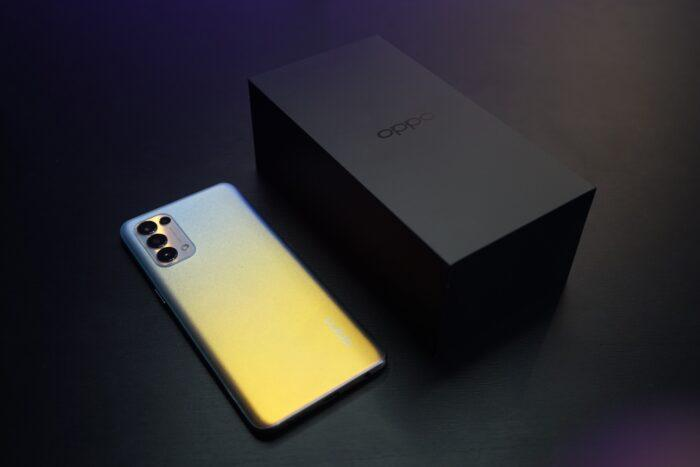 Oppo phone and packaging box